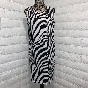 Peter Nygard petite zebra print shift dress